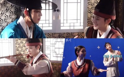 """Watch: Ahn Hyo Seop, Kim Yoo Jung, And More Are Both Playful And Passionate While Filming """"Lovers Of The Red Sky"""""""