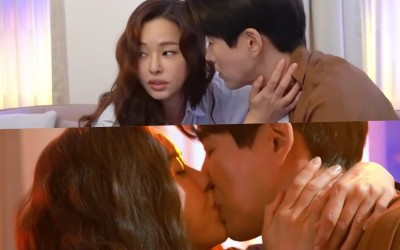 """Watch: Honey Lee And Lee Sang Yoon Brainstorm Together To Create The Perfect Kiss Scene In """"One The Woman"""""""