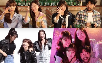 """Watch: Lee Sun Bin, Han Sun Hwa, And Jung Eun Ji Can't Stop Teasing Choi Siwon While Filming Posters For """"Work Later, Drink Now"""""""