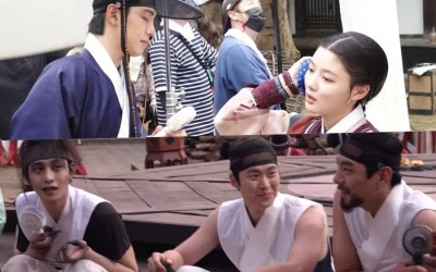"""Watch: """"Lovers Of The Red Sky"""" Cast Tries To Keep Cool With Fans And Jokes While Filming Serious Scenes"""
